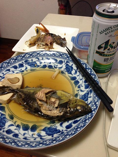 サビキ釣りの釣果(煮付け)